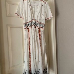 Free people real romance embroidered top